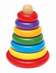 WOODY - Skládací pyramida barevná 90003