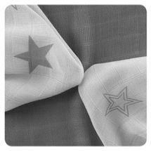 XKKO - Bambusové ubrousky 30x30 Silver Stars Mix (9ks)