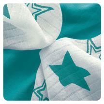 XKKO - Bambusové ubrousky 30x30 Tyrkysové hvězdičky MIX (9ks)
