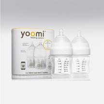 Yoomi - 140 ml kojenecká láhev 2x (bez ohřívače) + dudlík s pomalým průtokem