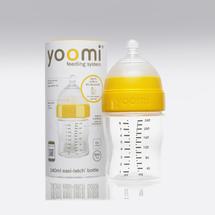 Yoomi - 240 ml kojenecká láhev (bez ohřívače) + dudlík s pomalým průtokem