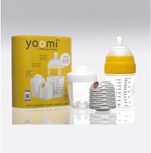 Yoomi - set 3 v 1 - 240 ml kojenecká láhev + ohřívač + nabíječka na ohřívač - žlutý