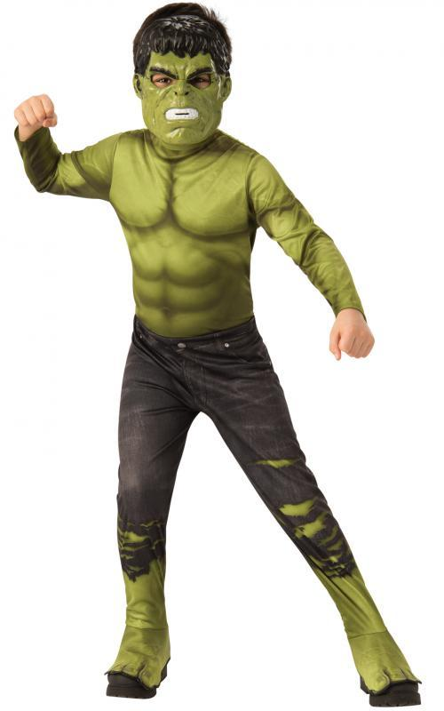 RUBIES - Kostým Avengers Endgame Hulk - Classic kostým s maskou vel. S