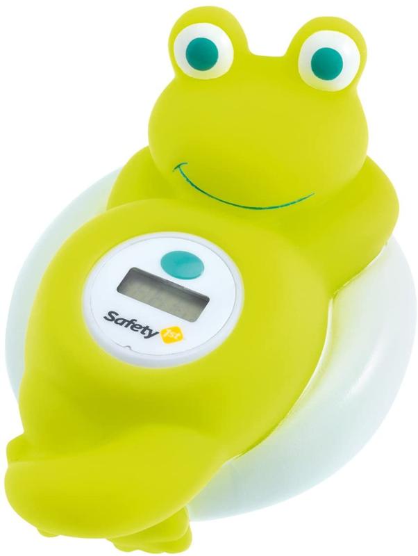 SAFETY 1ST - Teploměr digitální do vany žába White and Lime