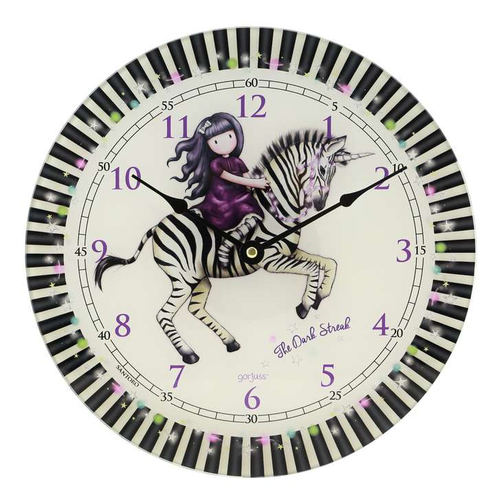 SANTORO - Gorjuss nástěnné hodiny The Dark Streak