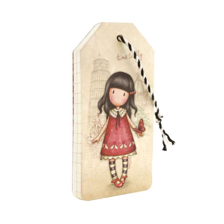 SANTORO - Gorjuss zápisník a la jmenovka na zavazadla Time to Fly