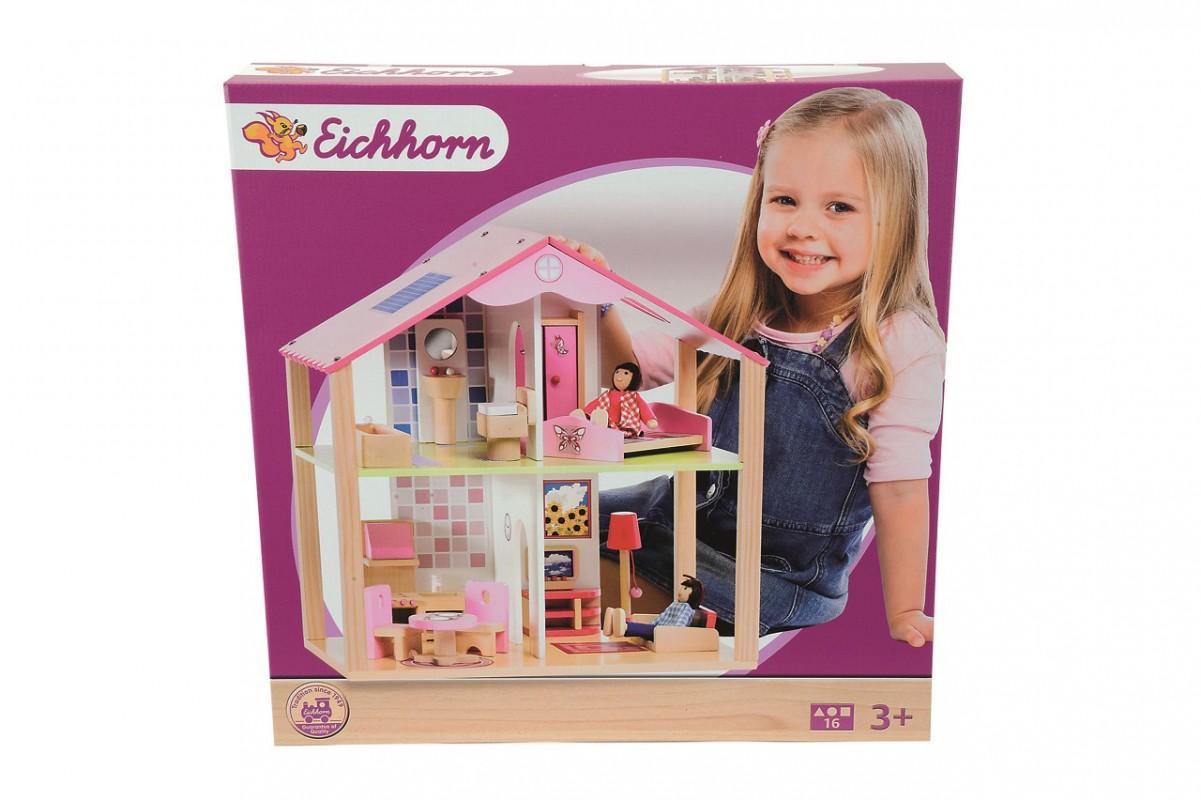 SIMBA - Dřevěný domeček pro panenky s přísl.