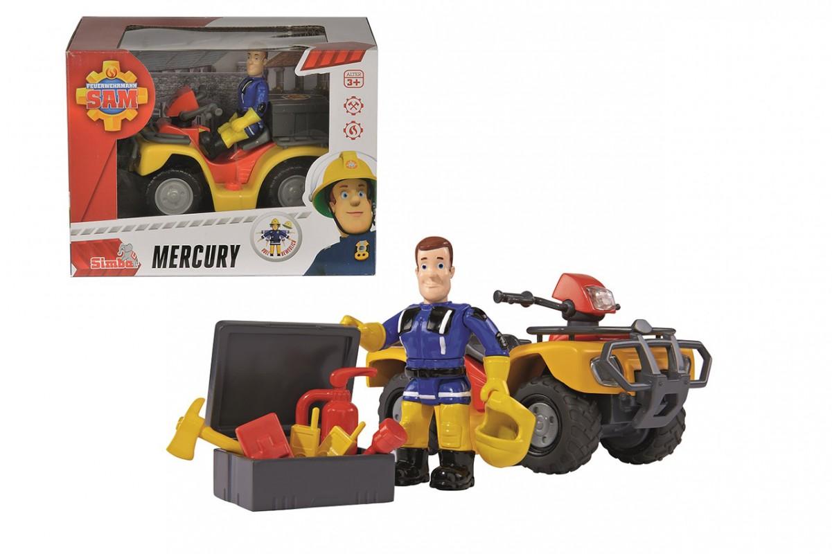 SIMBA - Požárník Sam Mercury čtyřkolka s figurkou