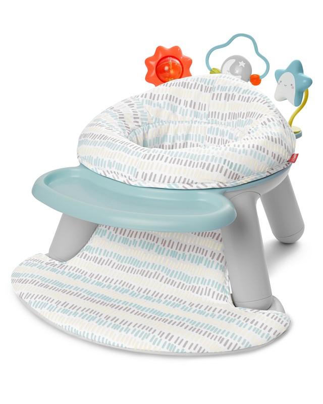 SKIP HOP - Aktivní centrum/Židle 2v1 Silver Lining do 11kg