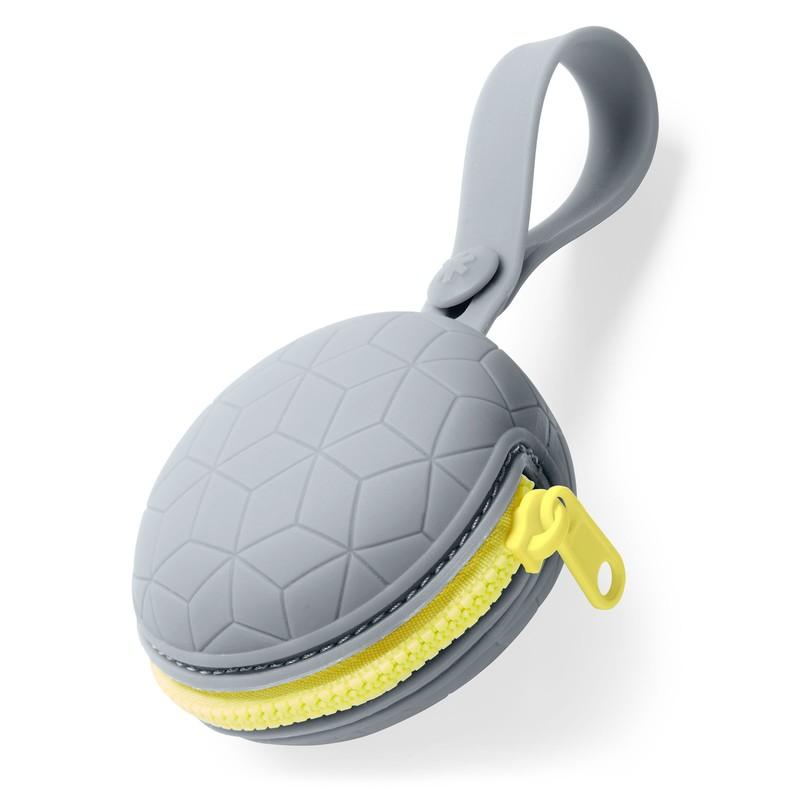 SKIP HOP - Pouzdro na dudlík silikonové Grab & Go - šedé