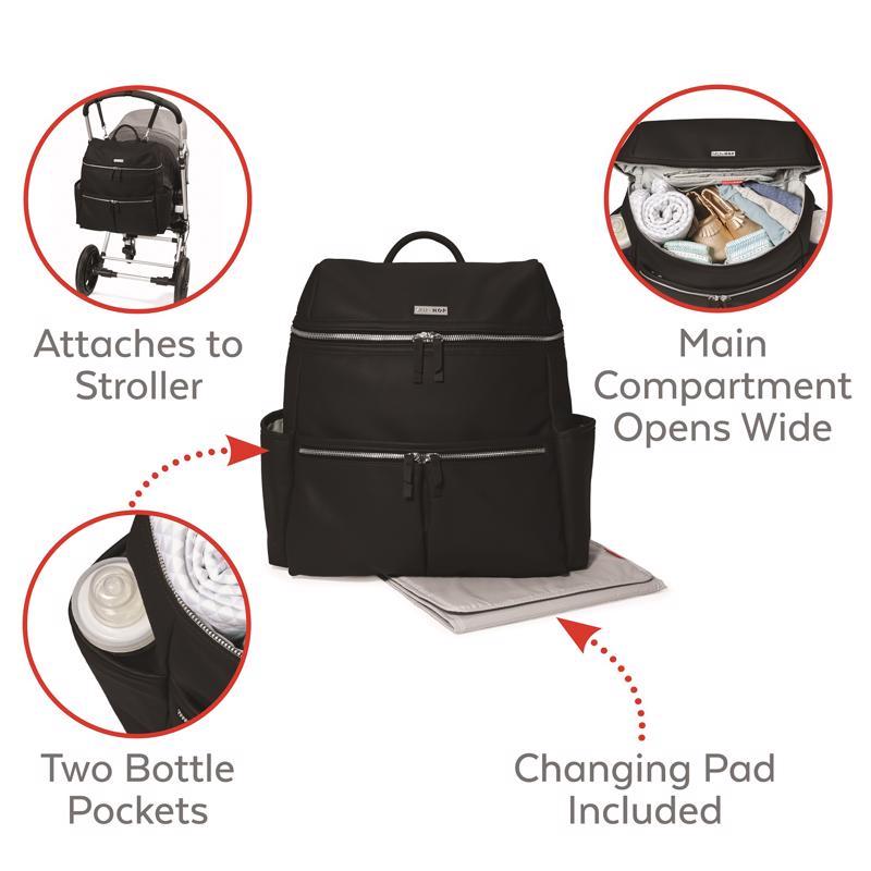 SKIP HOP - Taška přebalovací / batoh Flatiron Black