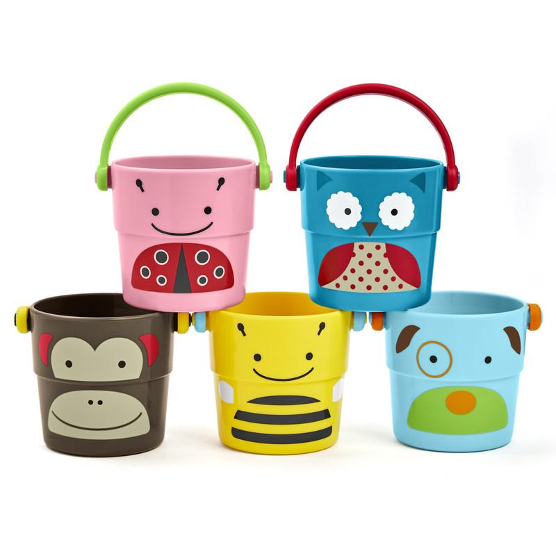 SKIP HOP - Zoo hračka do vody - sada kbelíků 9m +