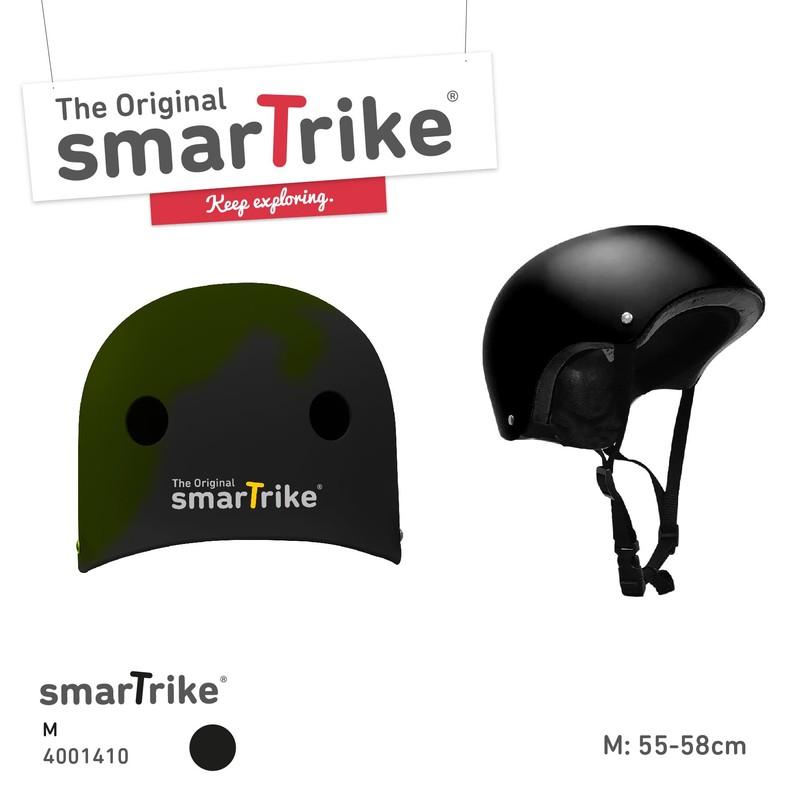 SMART TRIKE - Dětská přilba, M - černá