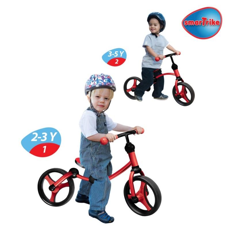 SMART TRIKE - Odrážedlo Running Bike 2-in-1, Červeno-černé