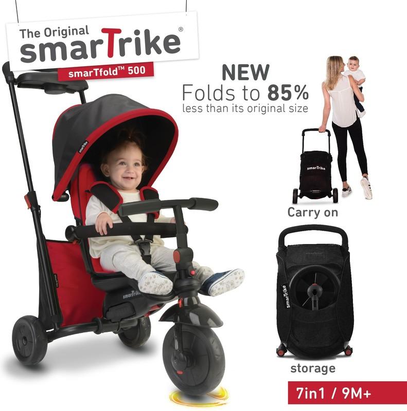 SMART TRIKE - tříkolka 500 Fold 7v1 Červená