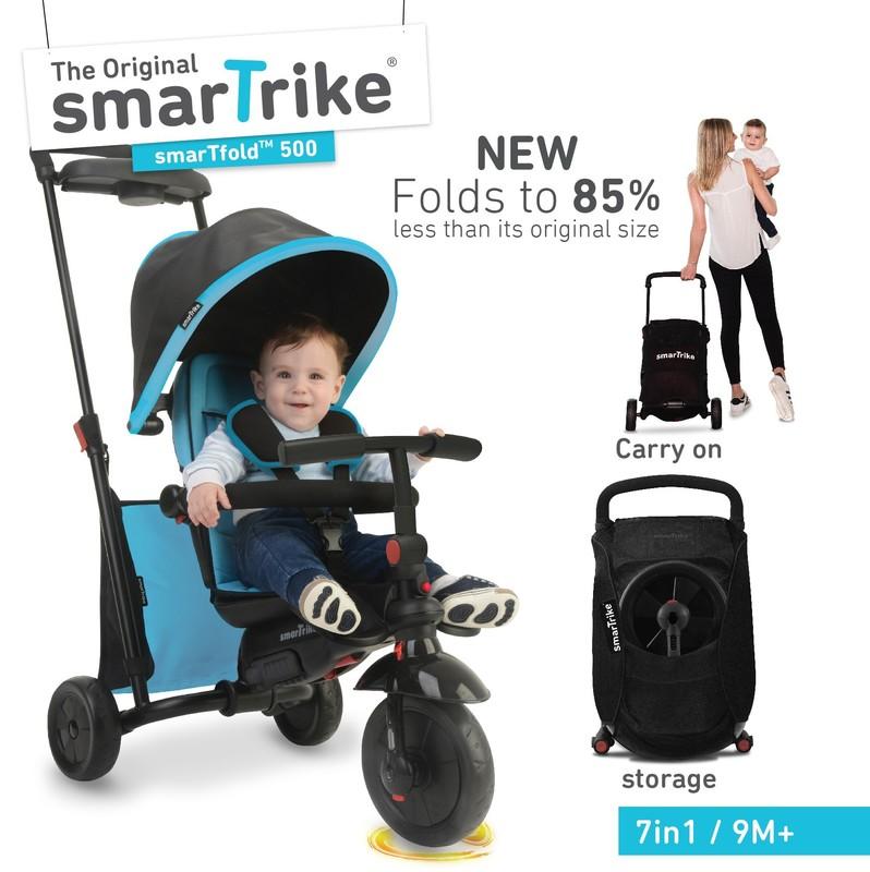 SMART TRIKE - tříkolka 500 Fold 7v1 Modrá
