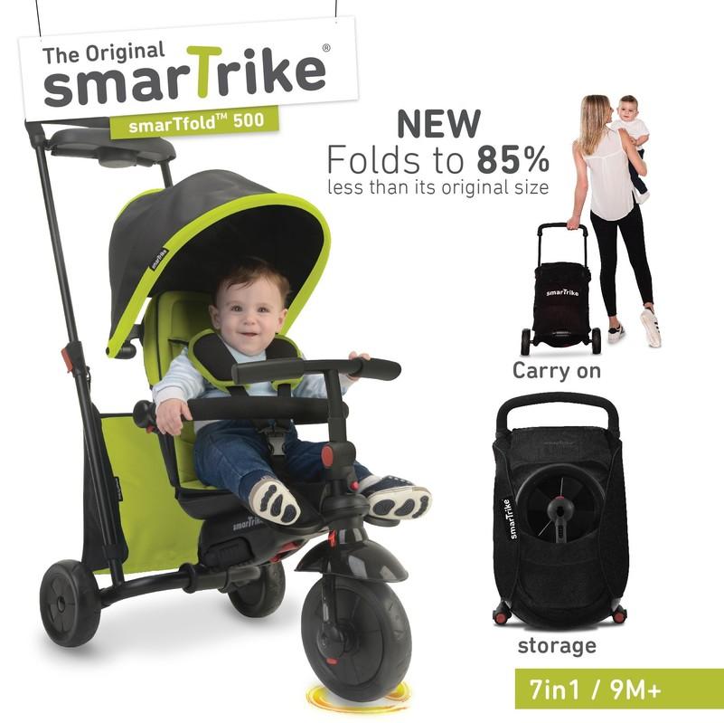 SMART TRIKE - tříkolka 500 Fold 7v1 Zelená