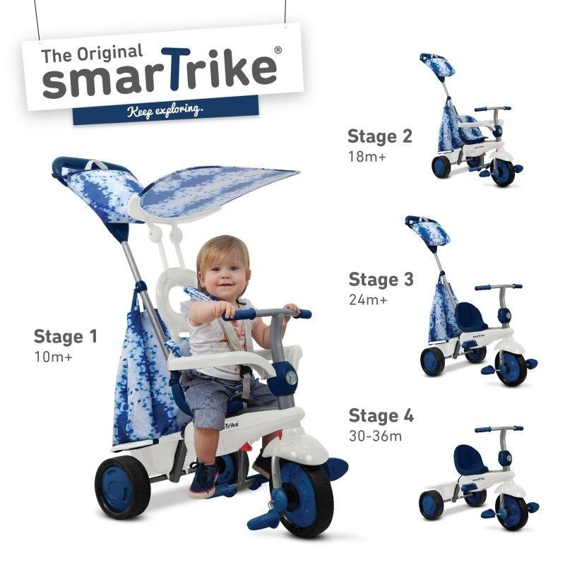 SMART-TRIKE - tříkolka 675 Spirit Touch Steering 4v1 Modrá