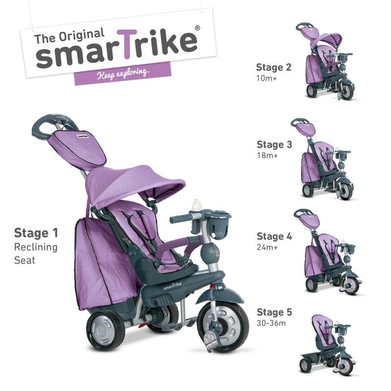 SMART TRIKE - Tříkolka Explorer 5 v 1, fialová