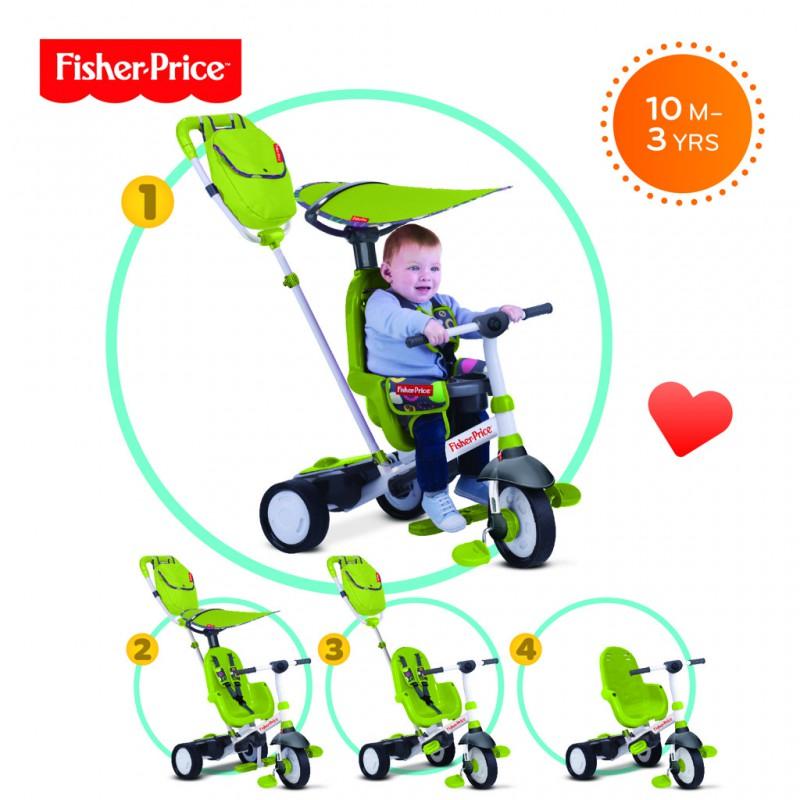SMART-TRIKE - tříkolka Fisher Price 320 Charisma 4v1 Zelená