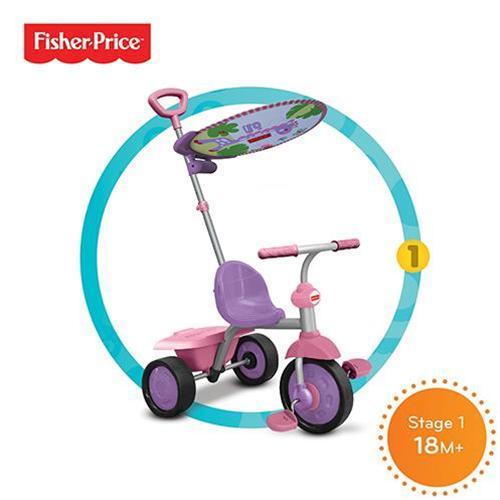 SMART-TRIKE - tříkolka Fisher Price 330 Glee Plus 2v1 Růžovo-fialová