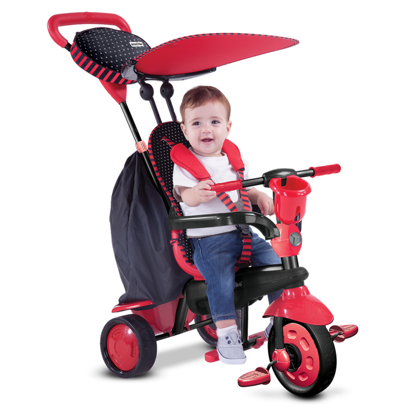 SMART TRIKE - Tříkolka Spark - Black / red