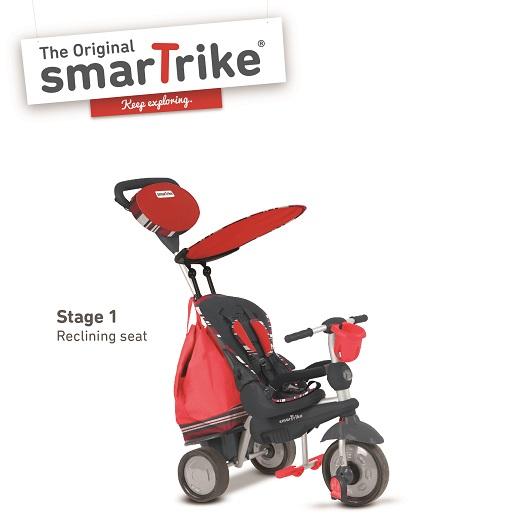 SMARTRIKE - Tříkolka Dazzle 5v1 červená 10m +