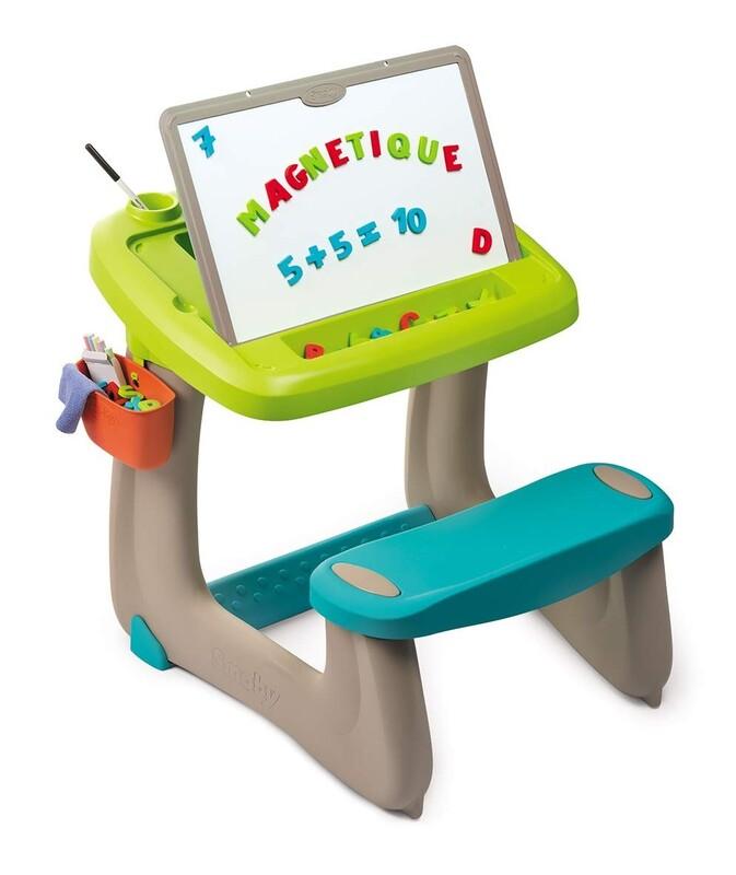 SMOBY - 420103 Školní lavice s tabulí modrá