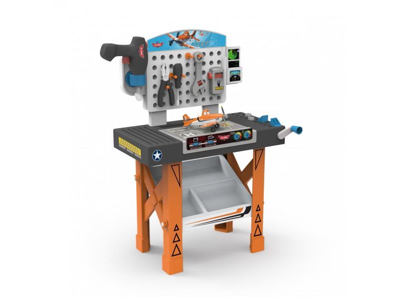 SMOBY - 500255 Planes pracovní stůl s liedadlom a mechanickou vrtačkou