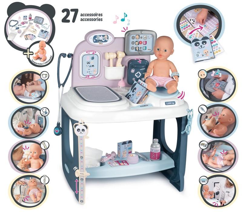SMOBY - Baby Care Center s příslušenstvím