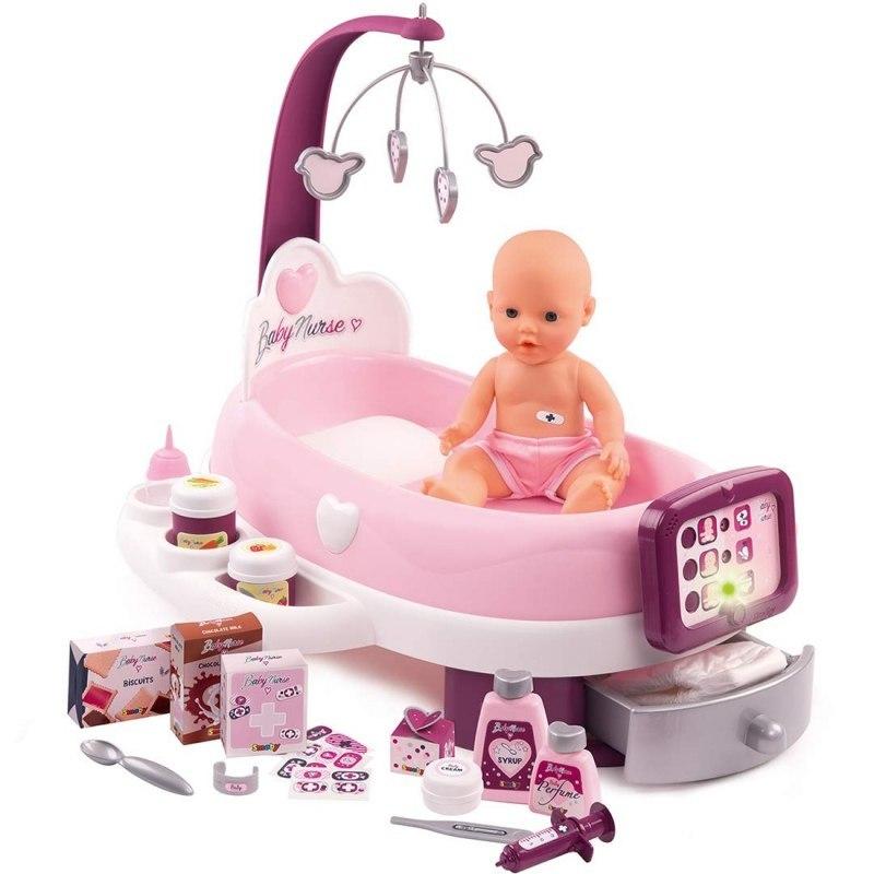 SMOBY - Baby Nurse elektronická postýlka / přebalovací pult.