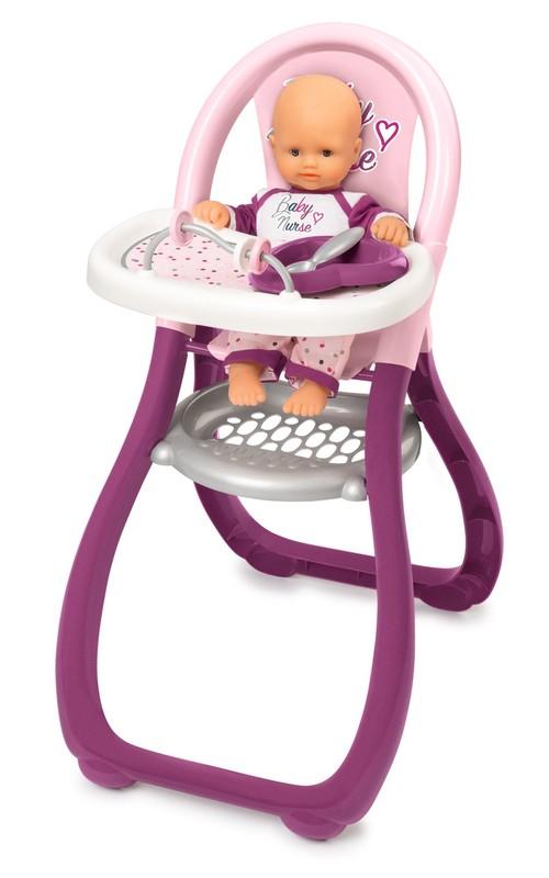 SMOBY - Baby Nurse Jídelní Židlička Pro Panenky