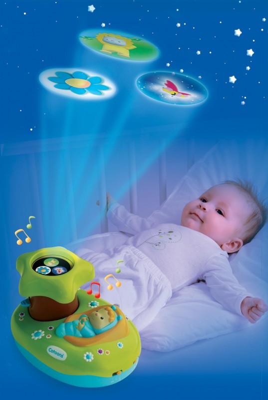 SMOBY - Cotoons 211422 Světelný projektor k postýlce asort