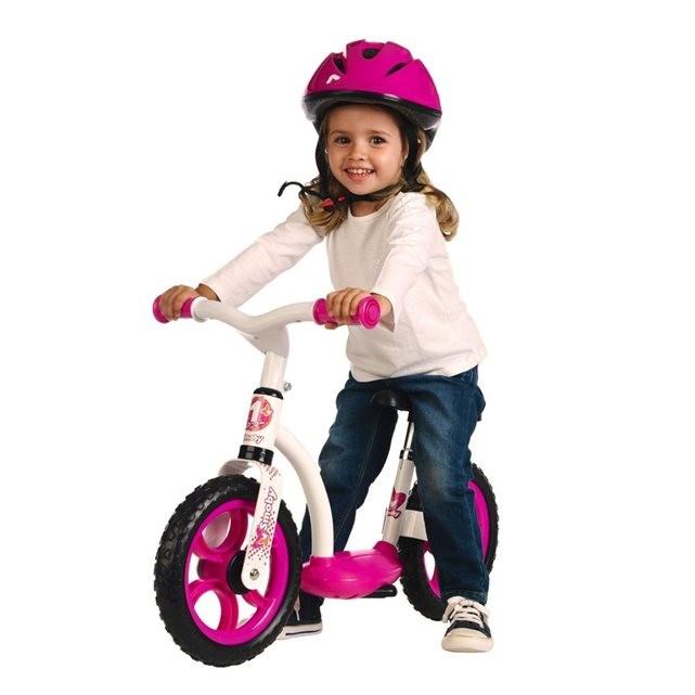 SMOBY - cykloodrážadlo se stojanem růžové 452052