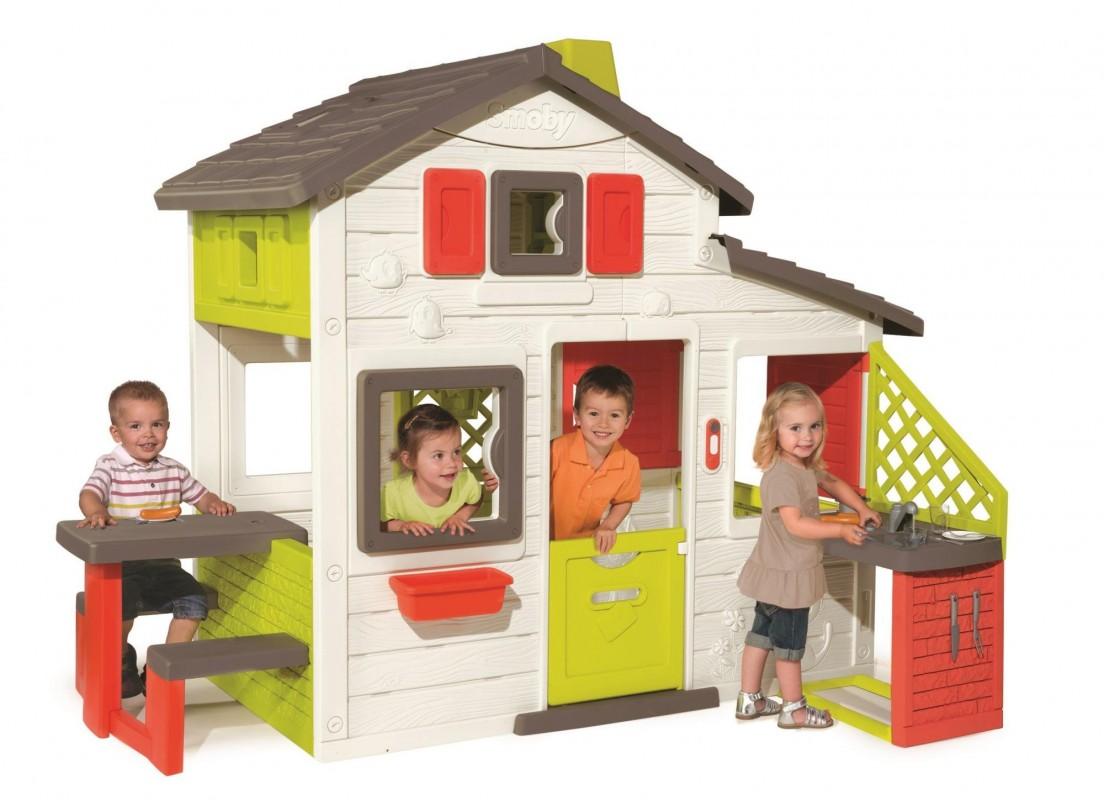 SMOBY - domeček Friends House s kuchyňkou a vodou 810200