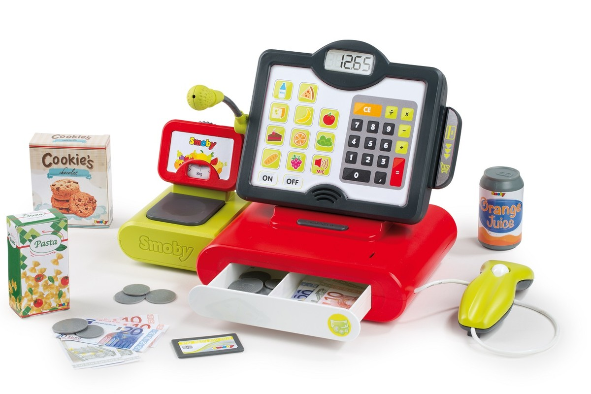 SMOBY - Pokladna elektronická, dotykový panel