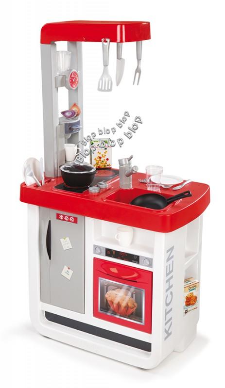 SMOBY - Kuchyňka Bon Appetit elektronická, červeno-bílá