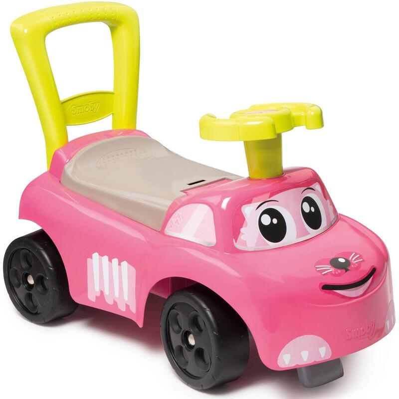 SMOBY - Odrážedlo a chodítko Auto Pink Ride-on 2v1