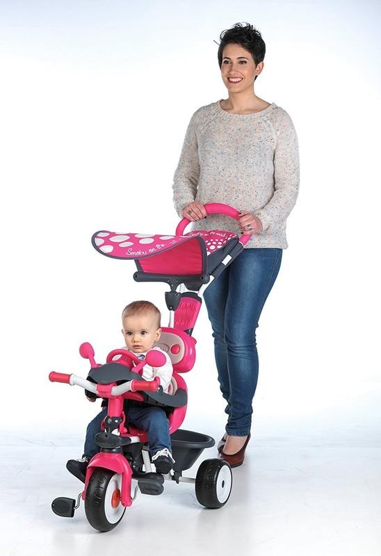 SMOBY - tříkolka Baby Driver Confort růžová 740600