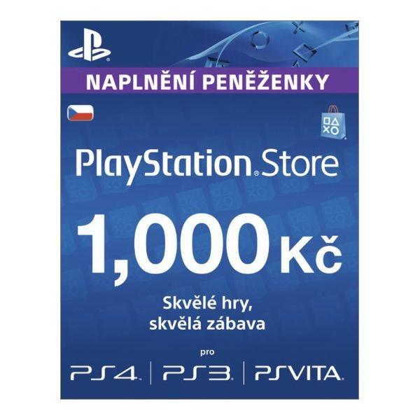 SONY - PlayStation Live Cards 1000Kč Hang CZ