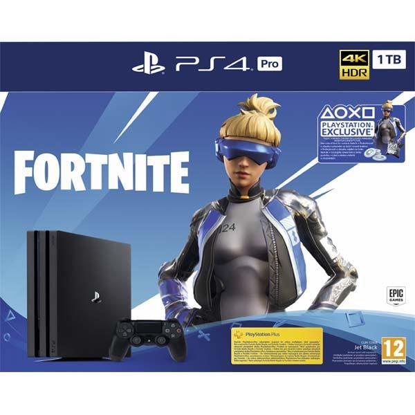 SONY - PS4 Pro Konzole 1TB + Fortnite, Herní konzole PlayStation 4 Pro 1 TB