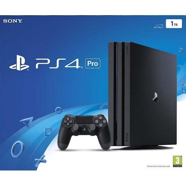 SONY - PS4 Pro Konzole 1TB Jet Black, Herní konzole PlayStation 4 Pro