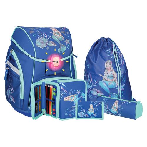 SPIRIT - Školní aktovka - 5-dílný set, PRO LIGHT Mermaid, LED