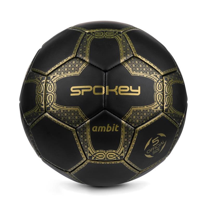 95678a8d2db0a SPOKEY - Spokey AMBIT fotbalový míč černo-zlatý vel. 5