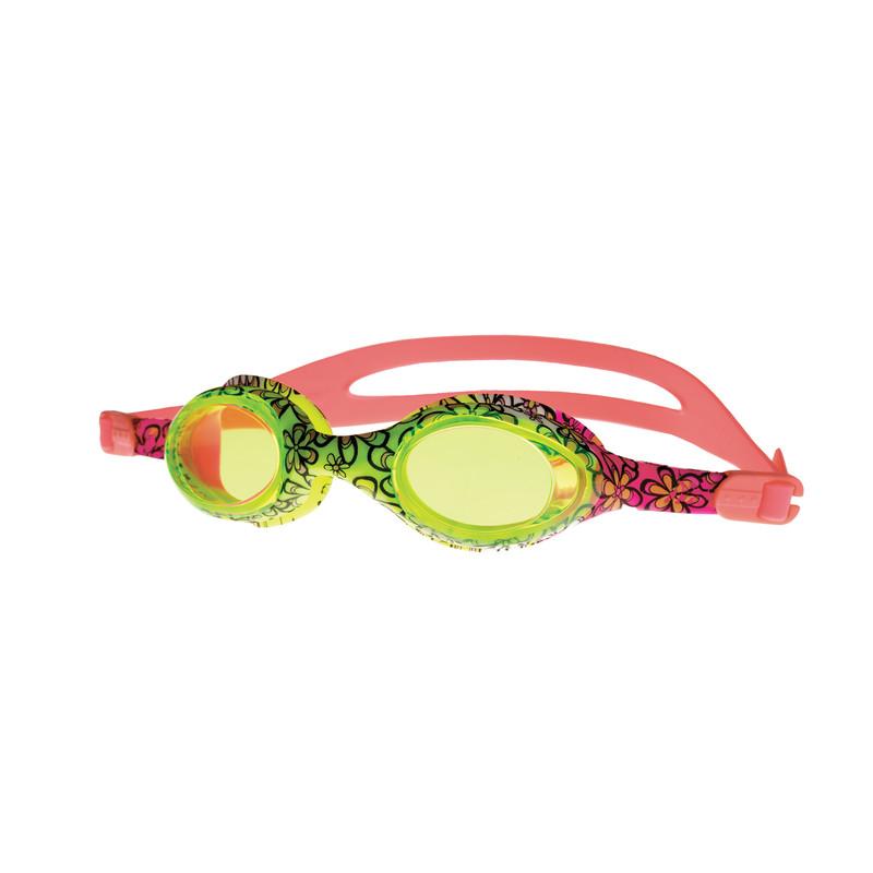 SPOKEY - BARBUS Plavecké brýle růžové s potiskem kytiček
