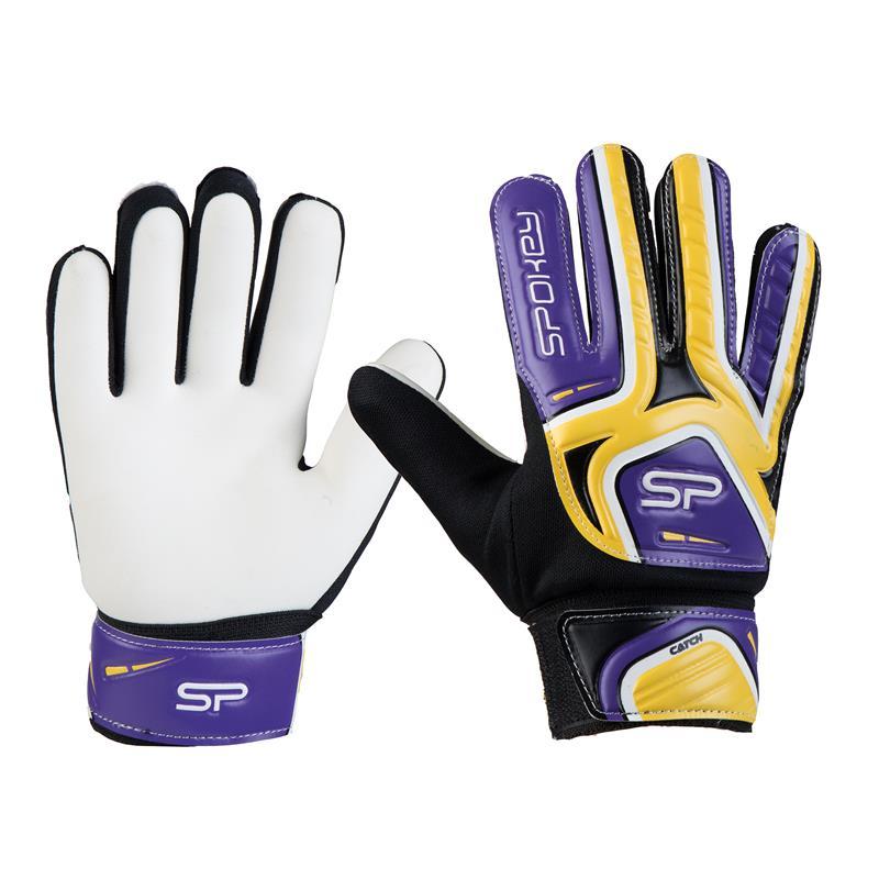 SPOKEY - Spokey CATCH II brankářské rukavice žluto-fialové roz. 5