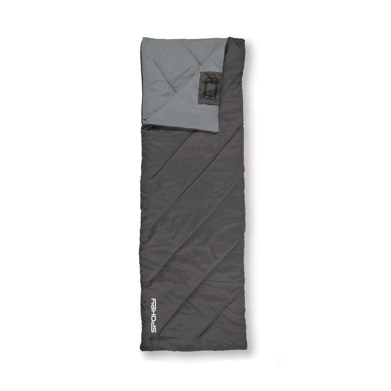SPOKEY - COZY II Spací pytel deka, černý, pravé zapínání