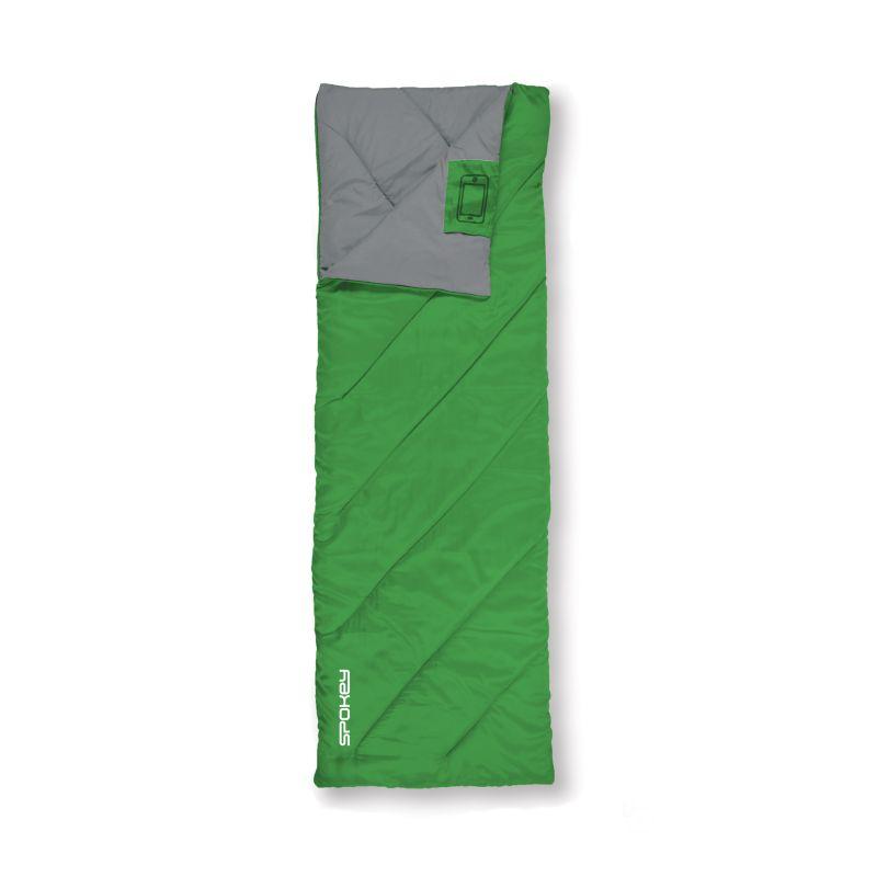 SPOKEY - COZY II Spací pytel deka, zelený, pravé zapínání