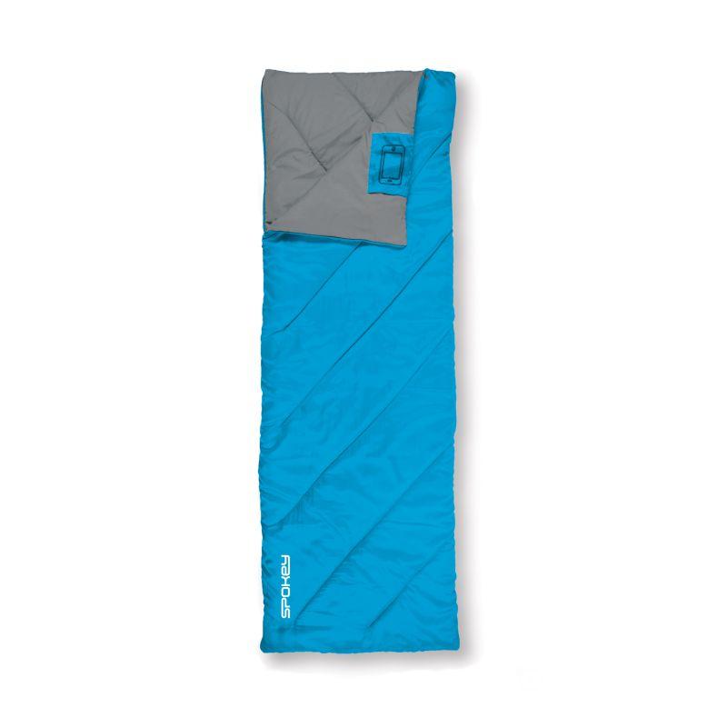 SPOKEY - COZY II Spací pytel deka, modrý, pravé zapínání