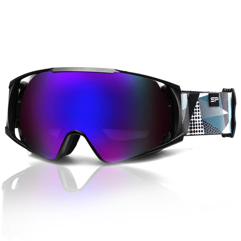 SPOKEY - Spokey DENNY lyžařské brýle černo-šedo-bílé